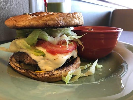 The stuffed turkey burger at Mot & Ed's.
