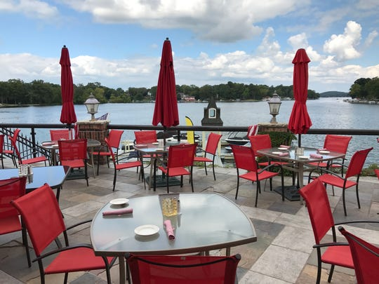 The Golden Mast's patio offers incredible views of Okauchee Lake and docks are only feet away for guests who would rather take the trip over to the restaurant by boat.