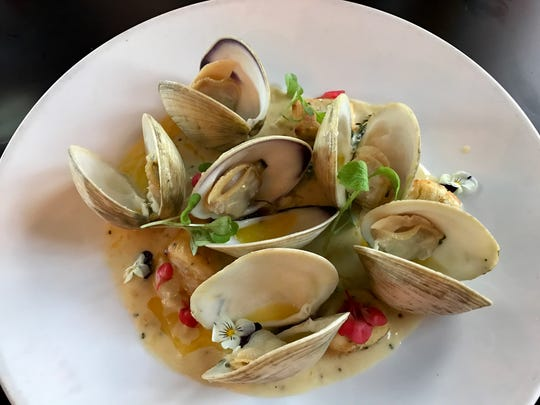 Crisp gnocchi with clams from Taverna Wood Fire Kitchen