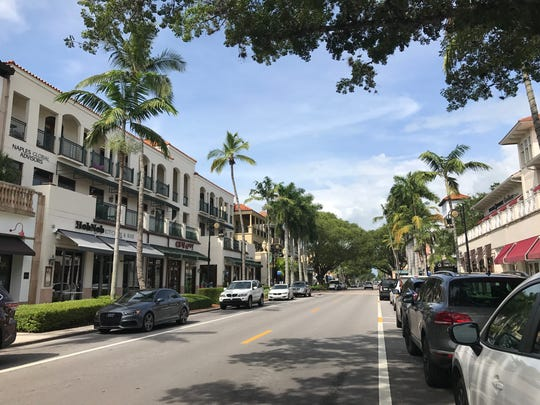 Fifth Avenue South in downtown Naples on Monday, Aug.