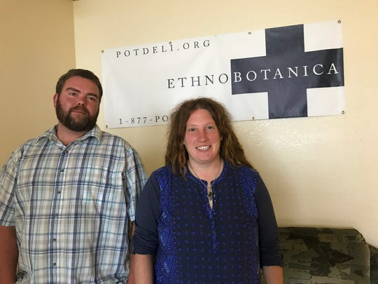 Ryan Booker and Stephanie Kiel are the founders of Ethnobotanica. Here they are at the facility in Moss Landing.