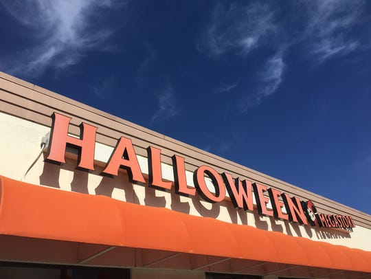 This Halloween Megastore is in the Sam's Club Plaza