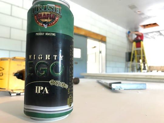 Irish Mafia Brewing's Mighty Ego IPA, one of its four