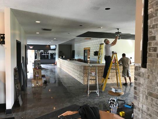 The under-construction tasting room area at Irish Mafia