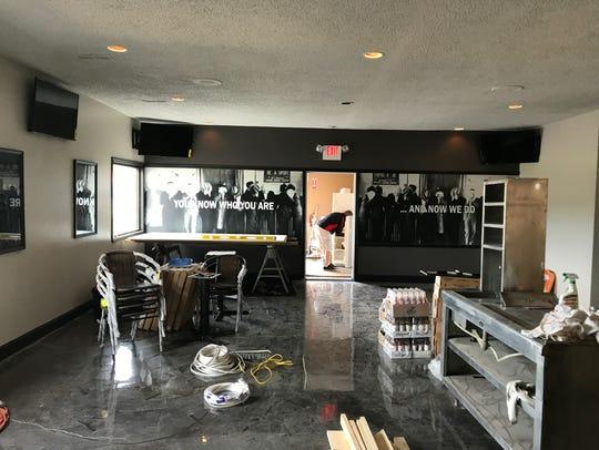 The taproom area at Irish Mafia Brewing in Bloomfield.