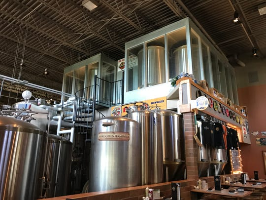 Guests at the Delafield Brewhaus are immediately greeted by the serving tanks and fementers. All five of the brewery's year-round beers have won medals at the World Beer Championships.