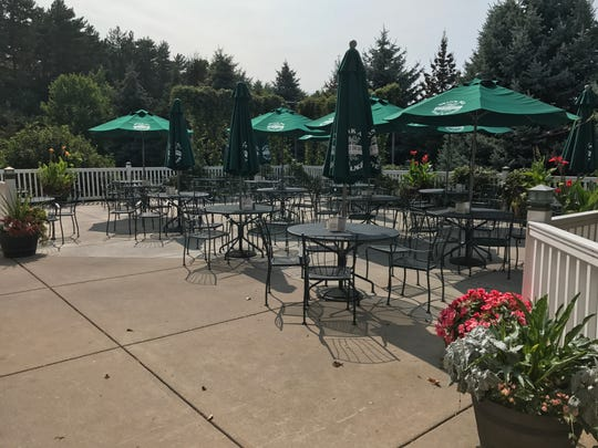 The Delafield Brewhaus' beer garden patio area seats up to 100 and Brewmaster John Harrison has even planted hops around the area.