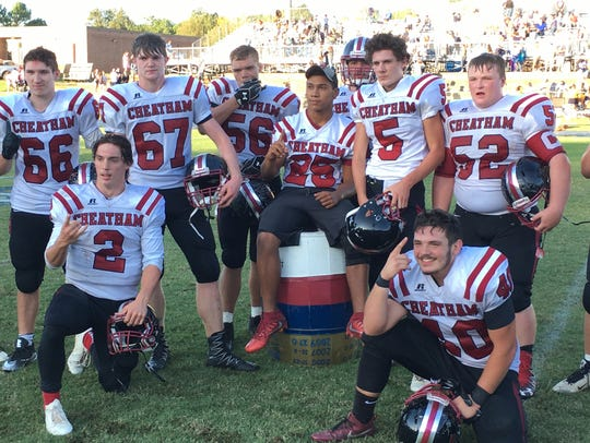 The Cheatham County seniors after their 21-0 win over
