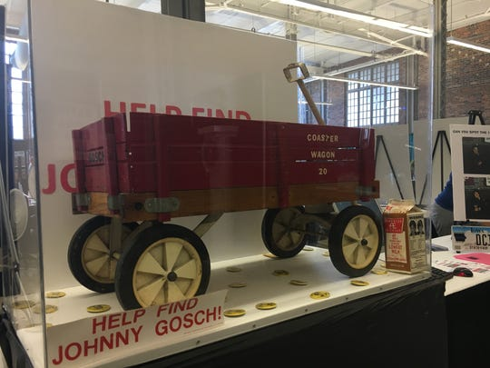 Johnny Gosch's red wagon, which was left behind when