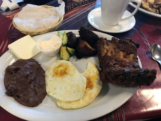Central American breakfast at Tikal Cafe
