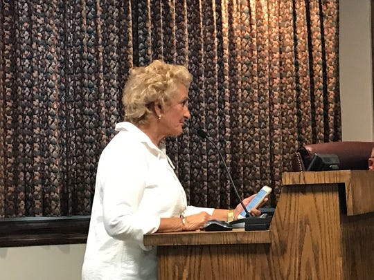 Bernie Cook, daughter of Dumser's Dairyland founder Gladys Dumser, spoke before the Ocean City council Tuesday.