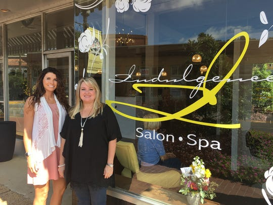 Lauren Bowden, left, and Suzanne Sanders have recently opened Indulgence Salon and Spa in the 1855 Prattville mercantile Building.