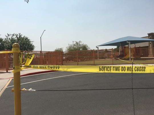 The shooting happened near a child-care agency.