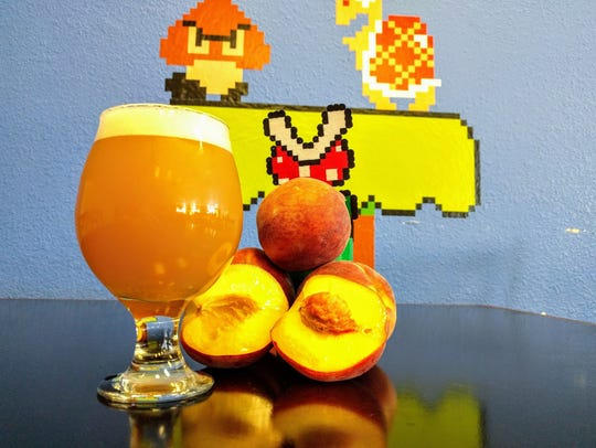 The Princess Peach Double IPA at 8-Bit Aleworks.