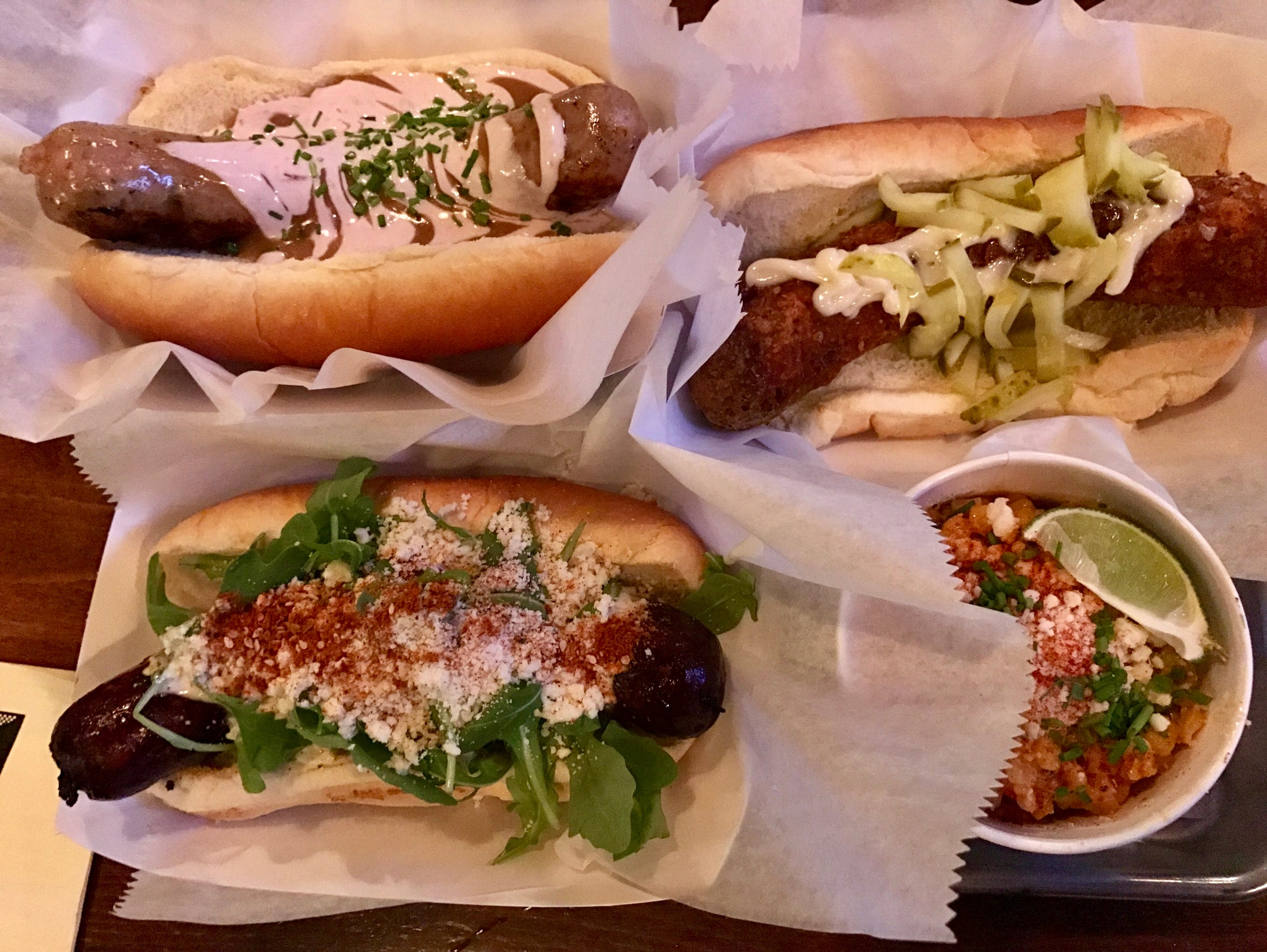 A selection of sausages at the Vanguard, 2659 S. Kinnickinnic