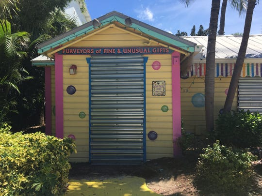 Businesses on Captiva have boarded up in preparation of Hurricane Irma.