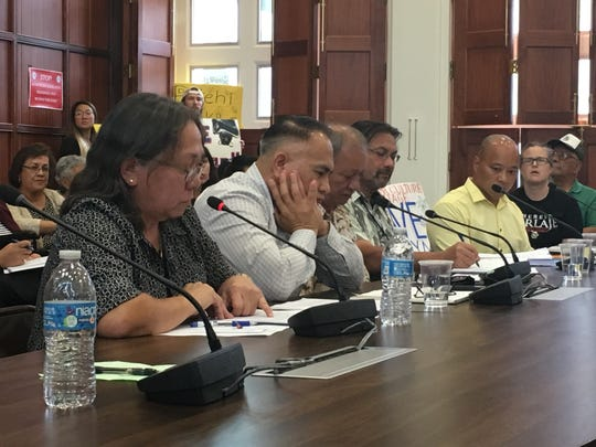 Lynda Aguon, representing the Guam State Historic Preservation Office, gave her report on the historical and cultural implications of the Live-Fire Training Range Complex in Ritidian. Robert Crisostomo, Matt Sablan and Tino Aguon were also present representing government agencies.