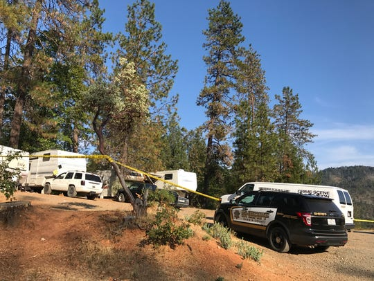 Residents of a campground say a man, who was stabbed Friday. Sept. 8, 2017 walked up to other mobile homes and asked for help.