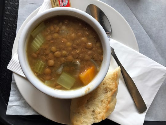 Portobello's offers freshly-made soups, every day.