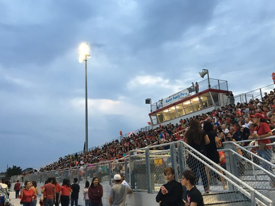 Fans filled the stands at Silver Foxes Stadium.