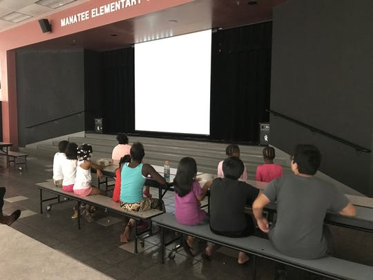 Young Hurricane Irma evacuees spent Saturday afternoon