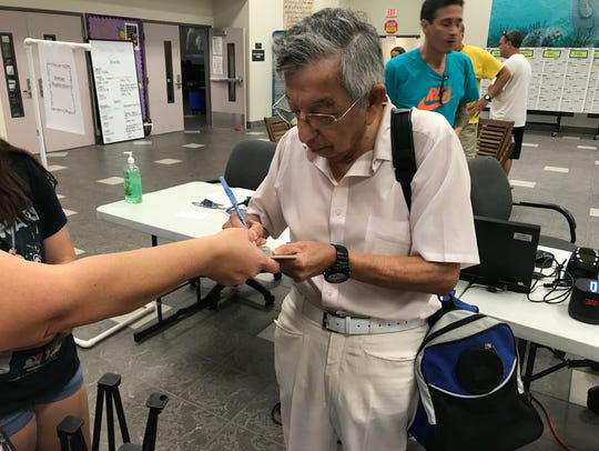 Dr. Victor Arana of Indian Harbour Beach checks into