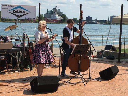 Alfie Jean And Fella Jack perform at the Bridge Water