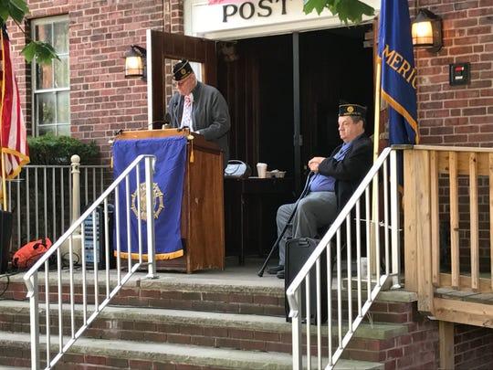 Leonia American Legion Post 1 Commander Richard Palka