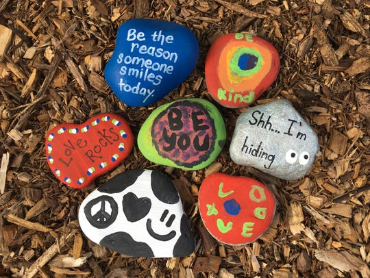 Consider painting your own kindness rocks to brighten