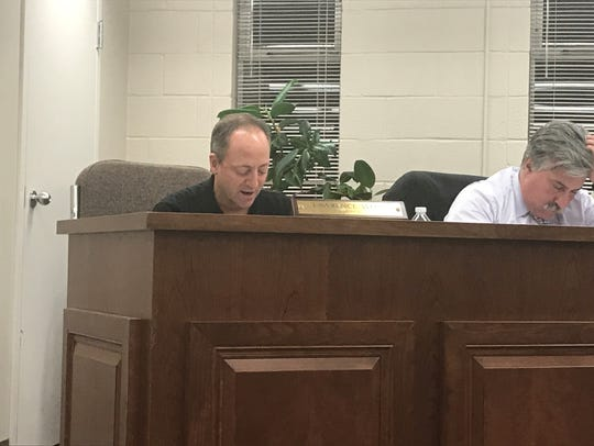 At the Aug. 22 council meeting, council members Larry