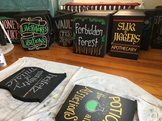 Sixty three hand-painted signs will be scattered throughout