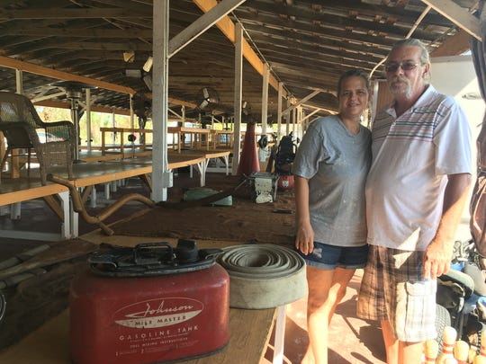 Tammy and Al Rednour are among vendors who were back to business at the Jumping Flea Market at Cocoa Marketplace, just south of State Road 528 on the west side of U.S. 1. Hurricane Irma shut the market down on Sept. 9 and 10.