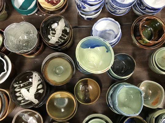 Handcrafted bowls created by local artists will raise
