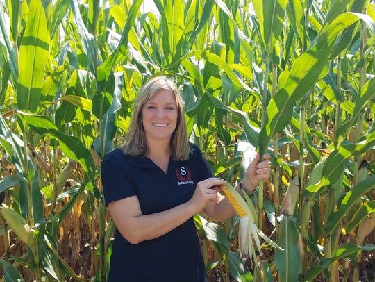 Renee Schaal has a dairy and crops farm in Burlington