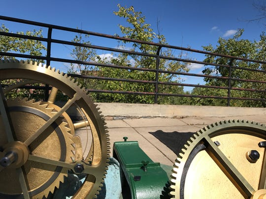 Pieces of the clock's mechanism returned to the Wisconsin Rapids Memorial Clock and Bell Tower Sept. 8, 2017.