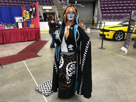 "Kristina Kelm poses at the Twin Tiers Comic-Con dressed as Midna from the ""Legend of Zelda: Twilight Princess"" video game on Sept. 16, 2017."