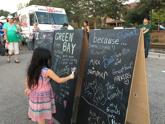 igNight Market encouraged everyone to embrace their creative side with interactive displays along Pearl Street.