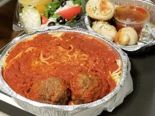 Lombardi's does great carry-out in oven-safe, sturdy