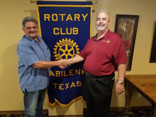 Former Abilene City Councilman Joe Spano meets with