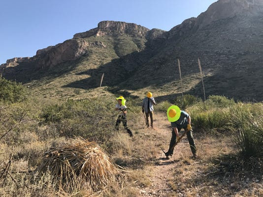 Carlsbad Caverns trail maintenance