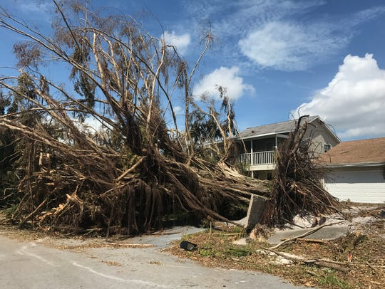Damage from Hurricane Irma can be seen on Marco Island
