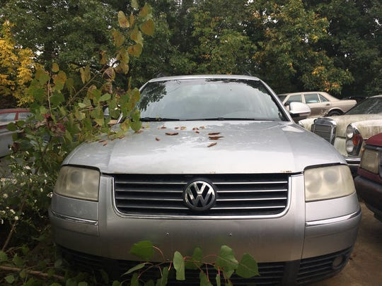 A 2005 Volkswagen Passat for sale at Ron Dauzet's property in Northfield Township. He is asking $2,400.