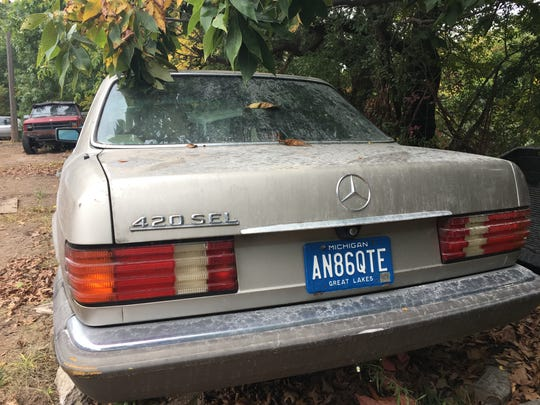 A circa 1989 Mercedes 420 SEL for sale at Ron Dauzet's property in Northfield Township. He is asking $700.
