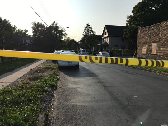 Rochester police on scene of a fatal shooting on Bernard