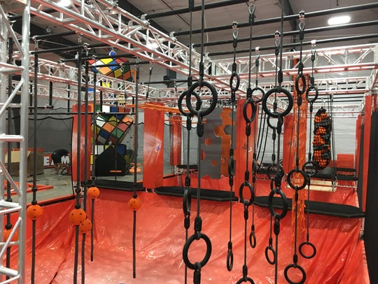 Inside the Ninja Course at Air Madness Trampoline Park