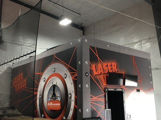 The Laser Maze Vault at Air Madness Trampoline Park in Harrisburg.
