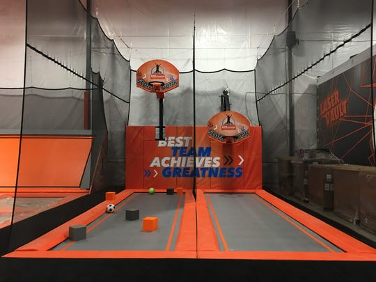 Air Time Slam Dunk Court at Air Madness Trampoline Park in Harrisburg.
