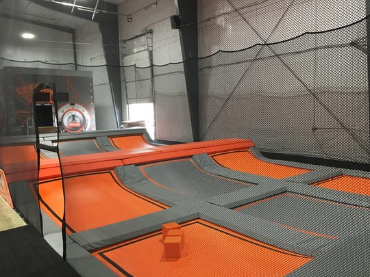 The ultimate dodgeball court at Air Madness Trampoline Park in Harrisburg.