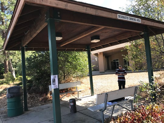 Shasta College has two public designated smoking areas on campus. The Redding community college is considering going 100 percent smoke- and tobacco-free.