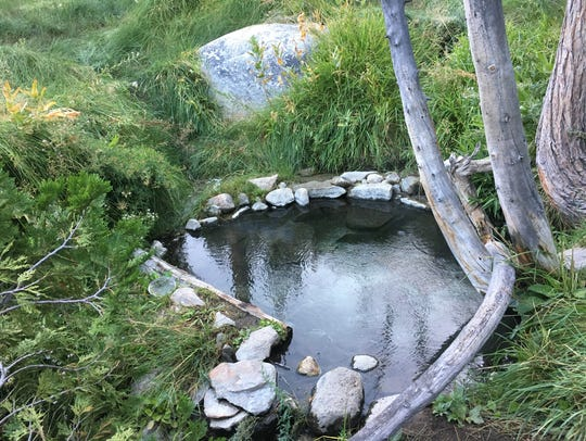 One of the pools at Iva Bell hot springs, most hikers